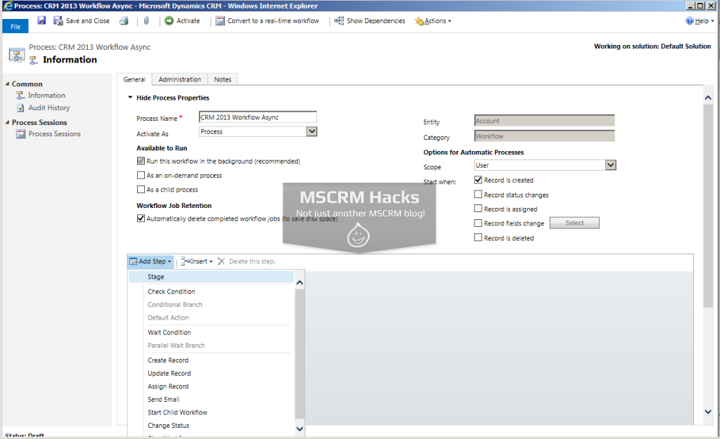 What has changed in Workflows in CRM 2013 - Image 04