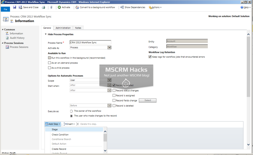 What has changed in Workflows in CRM 2013 - Image 06