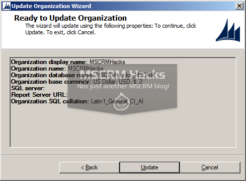 Defer Database update on installing CRM Rollup - Image 06