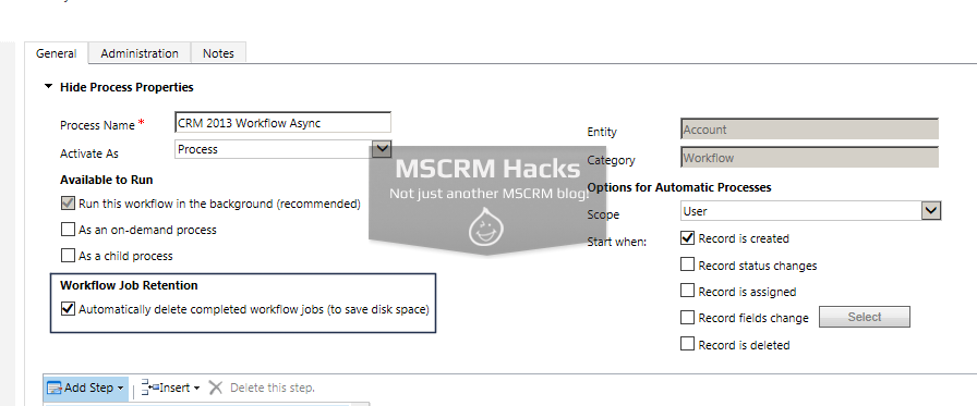 How Workflow configuration looked in CRM 2011 - Image 08
