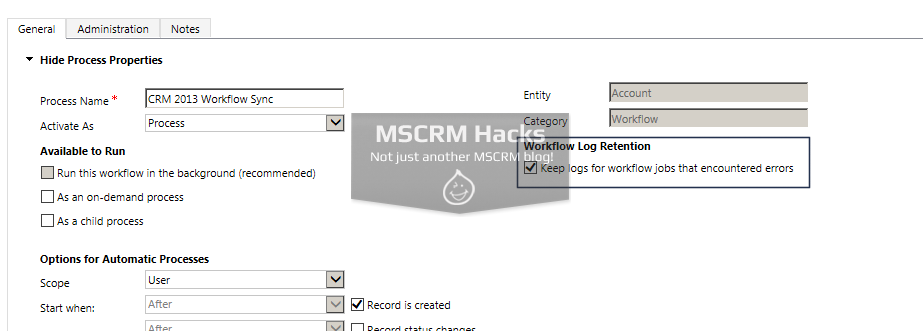 How Workflow configuration looked in CRM 2011 - Image 09a