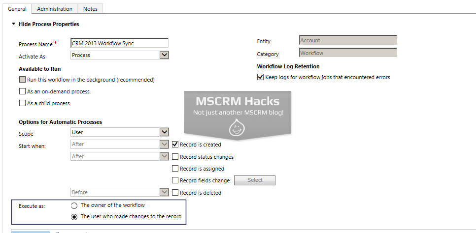 How Workflow configuration looked in CRM 2011 - Image 11