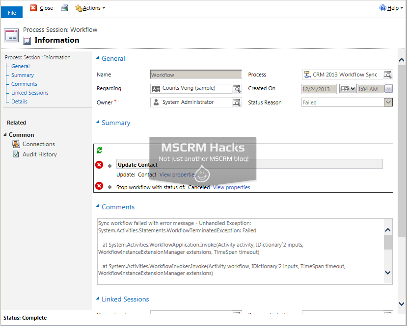 What has changed in Workflows in CRM 2013 - Image 09c