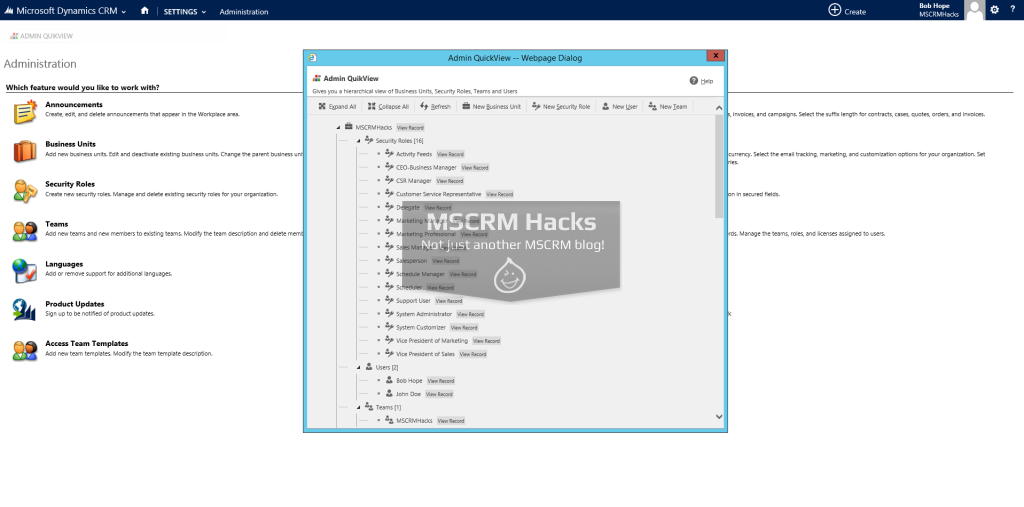 Admin QuikView Solution for CRM 2013 - Image 03