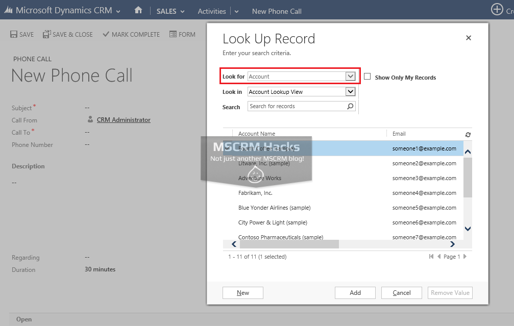 Modify Customer type Lookup in CRM 2013 - Image 04