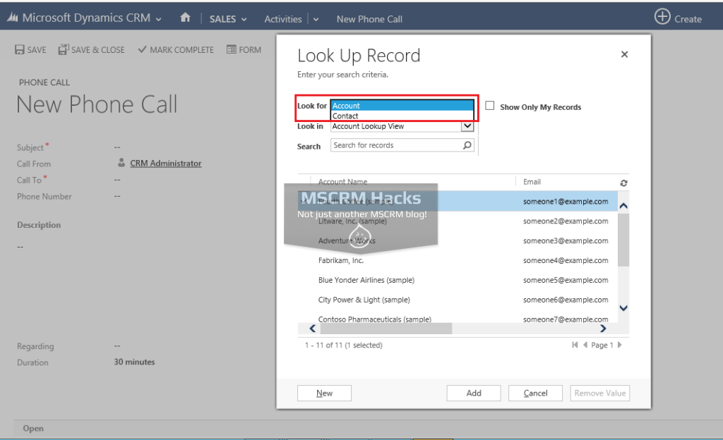 Modify Customer type Lookup in CRM 2013 - Image 05