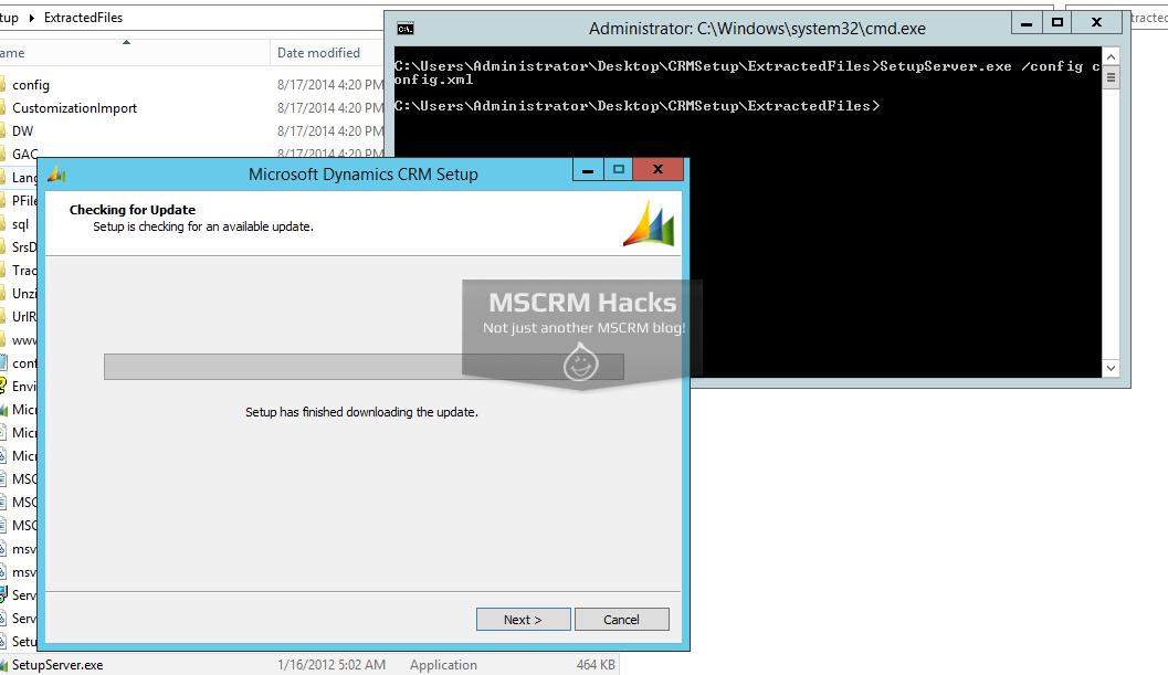 Install CRM 2011 on Windows Server 2012 R2 – MSCRM Hacks