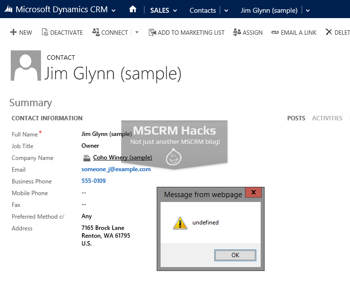 Call WCF Service from Dynamics CRM 2013 using AJAX - Image 03
