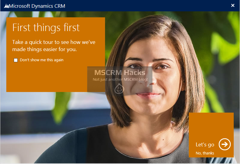 Disable Navigation Tour Video in CRM 2013 - Image 01
