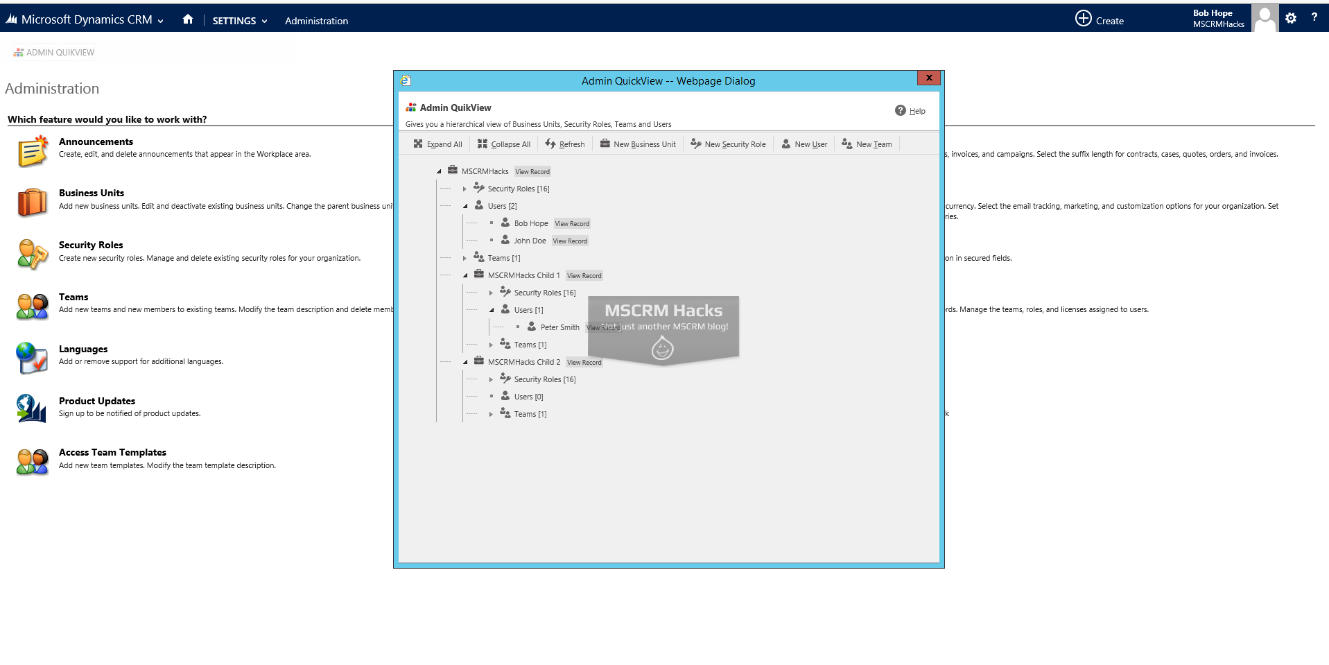 Admin QuikView Solution for CRM 2013 - Image 02
