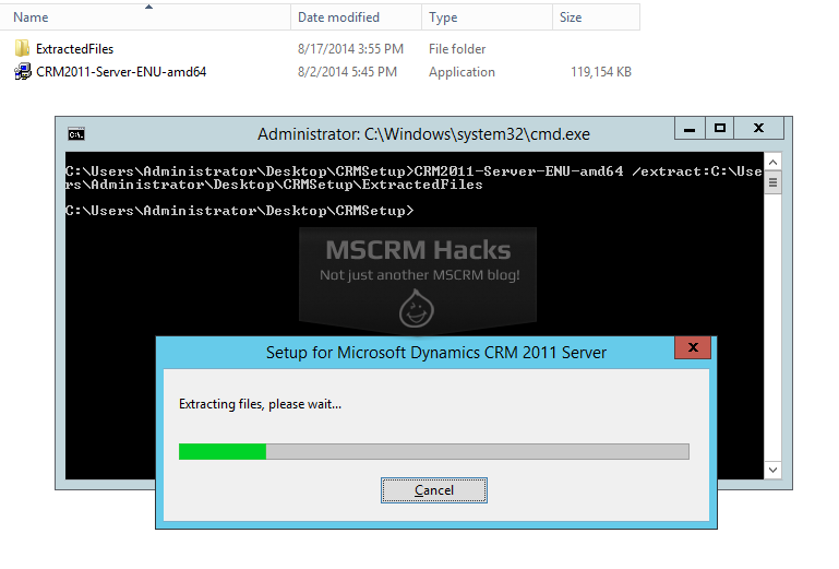 Install CRM 2011 on Windows Server 2012 R2 - Image 02